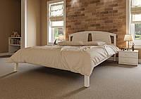Кровать деревянная полуторная Британия с деревянным изголовьем