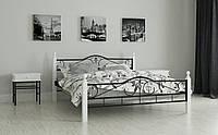 """Кровать металлическая на деревянных ножках """"Мадера"""" 160 х 190"""