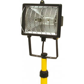 Прожектор галогеновый 400 Вт, на штативе, черный корпус Vorel 82786