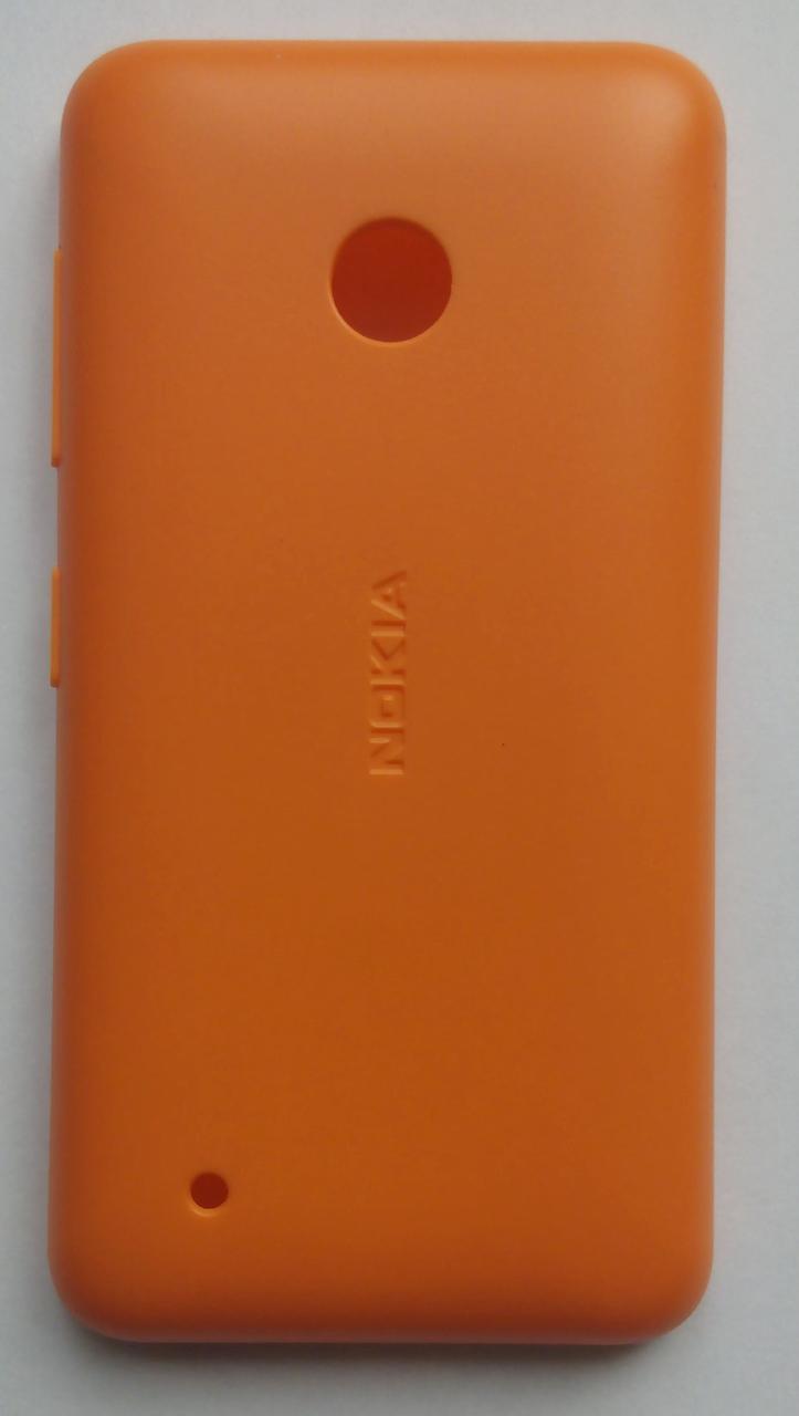 Задня кришка  Nokia 530 Lumia RM-1018 з боковими кнопками (оранж)