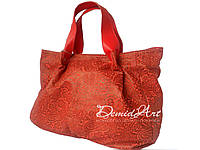 Яркая летняя сумка из итальянской кожи
