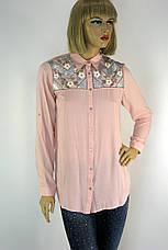 Жіноча сорочка вишита  бісером і паєтками  165, фото 2