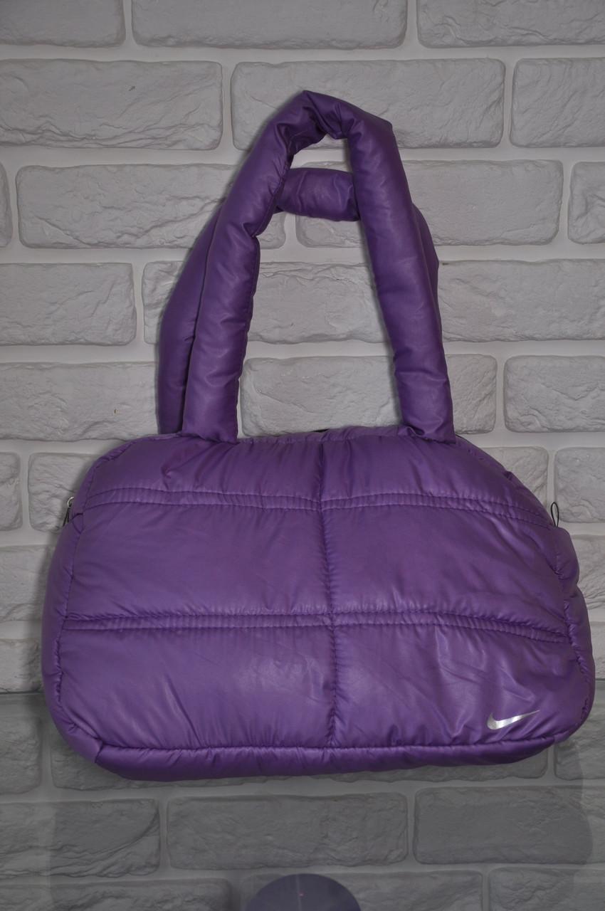 dea826490121 Спортивная сумка Nike модель Пуховик. (Фиолетовый+серебро). Лучшие цены!!!