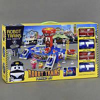 Гараж Роботы поезда с машинками в коробке