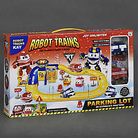Гараж парковка Robot Trains, 2 машины, в коробке