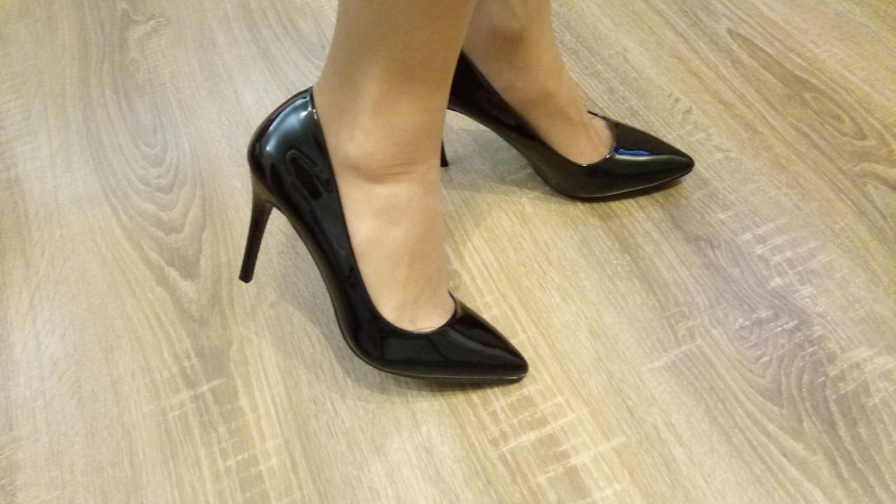 a6dec86e5 Женские туфли-лодочки черный лак - Женская обувь от производителей в  Харькове