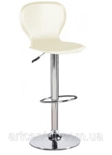 Барный стул, визажный стул, стул для кассира, стул для администратора (РАМЗЕС белый)