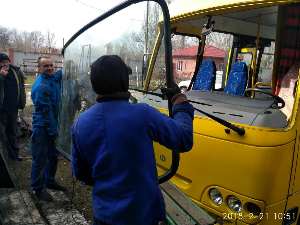 Изготовление и замена лобового стекла на Богдан А 93 Атаман в Никополе