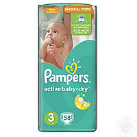 Подгузники PAMPERS Active Baby Dry 3 Midi (4-9кг) 58шт.