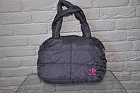 Спортивная сумка Adidas модель Пуховик. (Серый+розовый). Лучшие цены!!!