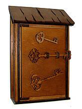 Ключница деревянная Малая I Ключница на стену I Ящик для ключей из дерева
