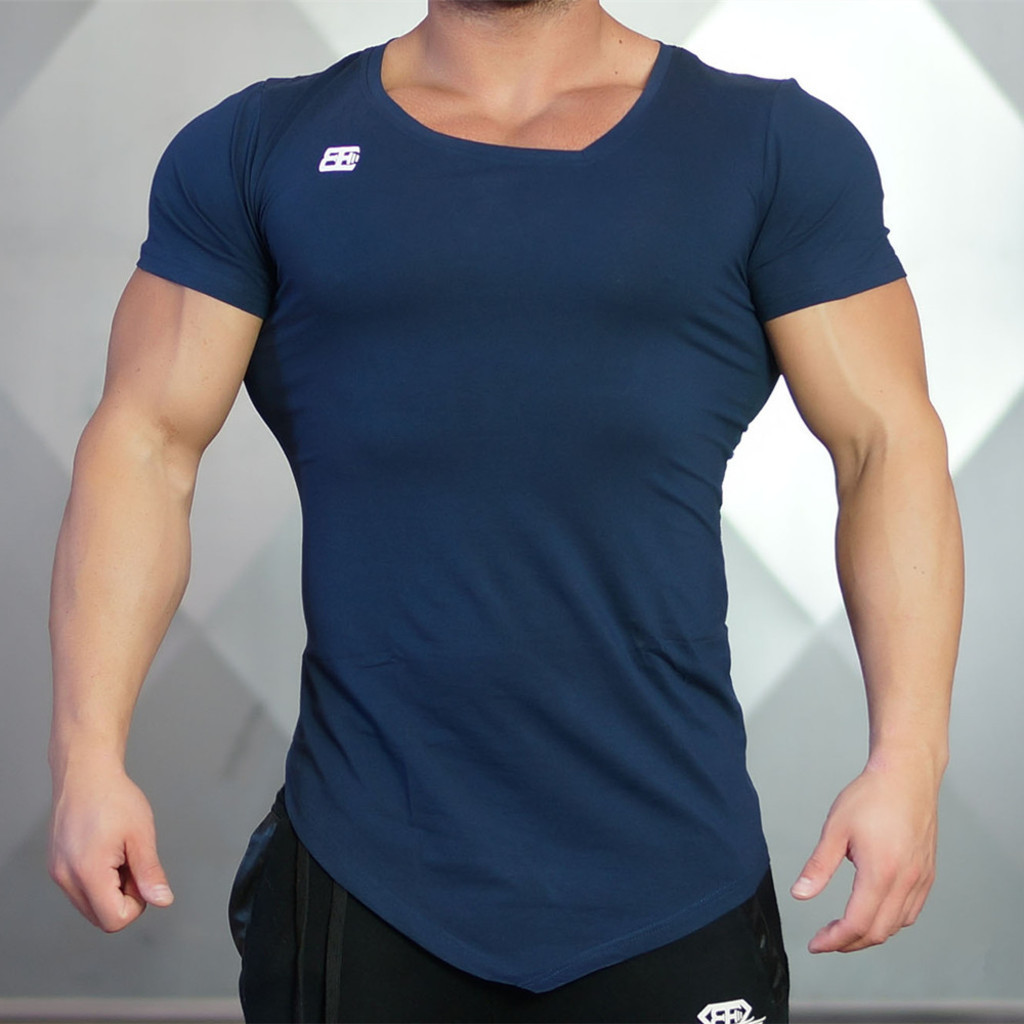 "Мужская футболка ""Body Engineers"" (синий navy)"