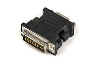 Перехідник PowerPlant VGA - DVI-I (24+5 pin), чорний