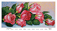 Схема для полной зашивки бисером - Розовые розы