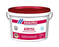 Краска силиконизированная KRAUTOL ACRYSIL фасадная, B1-белая, 2,5л