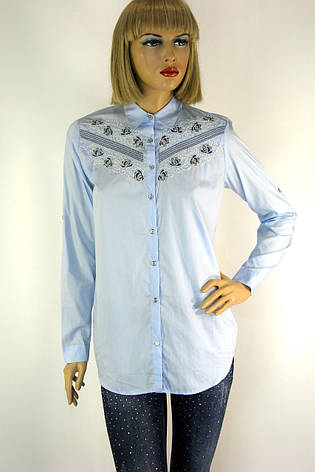 Жіноча сорочка вишита  бісером і паєтками  197, фото 2