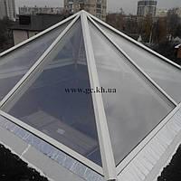Стеклянный навес, козырек, крыша