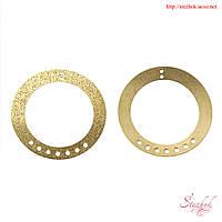 Коннектор кольцо 35мм золото сверкающая пыль для рукоделия