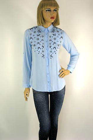 Жіноча блузка,сорочка вишита  бісером і паєтками  155, фото 2