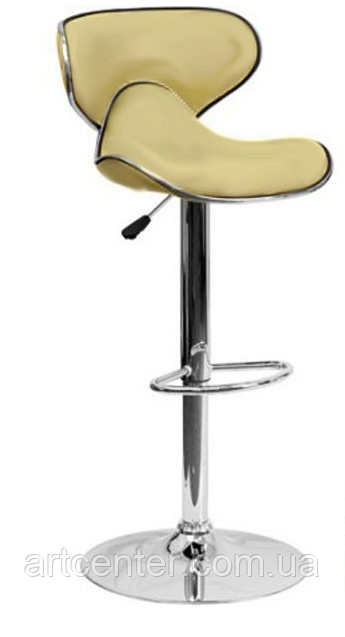 Барный стул с мягким сиденьем, визажный стул бежевый, стул для кассира (САЛЛИ бежевый)