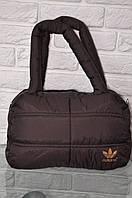 Спортивная сумка Adidas модель Пуховик. (Коричневый+золотой). Лучшие цены!!!, фото 1