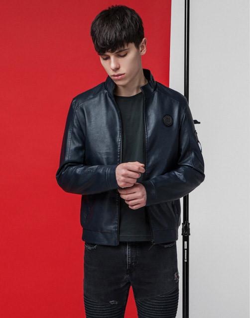 Мужская демисезонная куртка 3332 темно-синяя