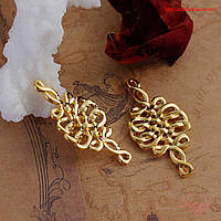 Коннектор 35х18мм кельтские узлы золото для рукоделия