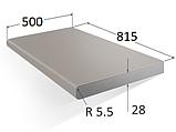 Стільниця 800х500х28 мм. для відкидного столика 0283 PE петра бежева, фото 2