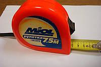Рулетка строительная 7,5 м х 25 мм, 10-475//Миол