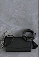 Кожаная сумка на пояс + клатч Элис Графит , фото 1