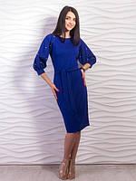 Стильное платье с объёмными рукавами размеры С,М,Л