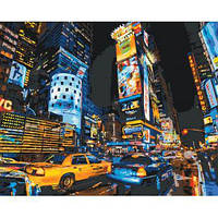 """Картина по номерам Городской пейзаж """"По улицам Нью-Йорка 2"""" KHO2185"""