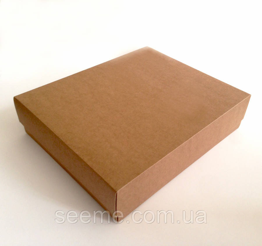 Коробка из крафт картона 340x280x80 мм.