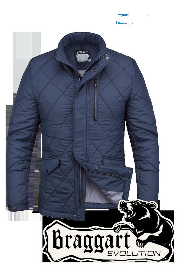 Осенняя мужская синяя куртка Braggart арт. 1214