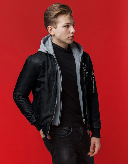 Мужская куртка весна-осень 318 черный