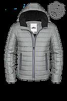 Мужская светло-серая осенняя куртка (р. 46-56) арт. 952С