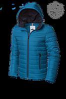 Мужская бирюзовая демисезонная куртка MOC (р. 46-56) арт. 968А