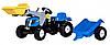 Трактор с прицепом и ковшом Rolly Toys rollyKid NEW HOLLAND 023929
