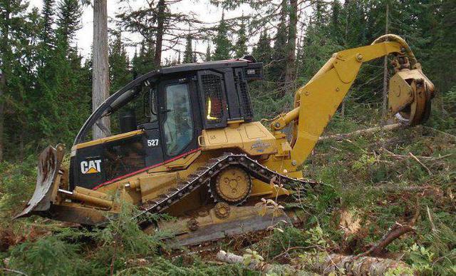 Фото лесозаготовительного трактора