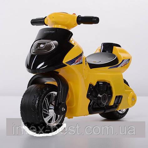 Детская толокар-мотоцикл Bambi 617-6 желтый, фото 2