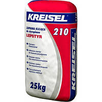 Клейова суміш для приклеювання плит з пінополістиролу Kreisel 210 (25 кг)
