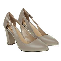 Туфли женские Sufinna (стильные, кожаные, на высоком каблуке, модный оттенок)