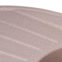 Овальная мойка из искусственного камня с крылом и евросифоном 78*50 см Granado  Murcia Terra 1703, фото 2