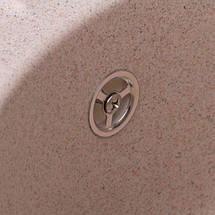 Овальная мойка из искусственного камня с крылом и евросифоном 78*50 см Granado  Murcia Terra 1703, фото 3