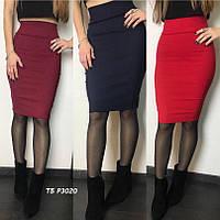Элегантная облегающая юбка средней длины 4 расцв.