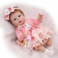 Кукла реборн Ева, мягконабивная 40 см, ручная работа