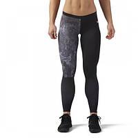 Компрессионные леггинсы с принтом Reebok CrossFit женские для спорта CD6475 - 2018