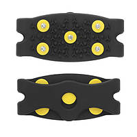 Ледоходы / ледоступы / накладки зимние противоскользящие резиновые на обувь, 5 шипов (ЦЕНА ЗА ПАРУ)