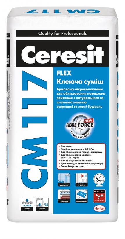"""CM 117 Клеюча суміш """"Flex"""" Ceresit"""