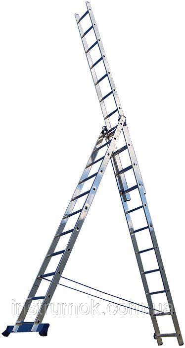 Лестница алюминиевая 3-х секционная на 7 ступеней ТМ TRITON